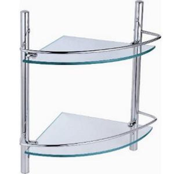 Crizto CM-101-9-2 Corner Glass Shelf-Dimension:380x240x410mm