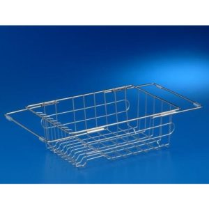 Stainless Steel Extendable Basket-350mm x 250mm x 130mm