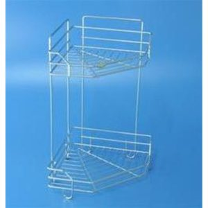 Stainless Steel 2 Tiers Corner Rack-Available in Single Tier