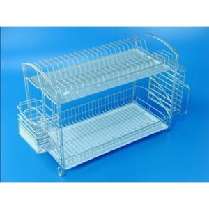 TPDK 5502-3P 2 Tiers Dish Rack with Chopstick Knife Holder-Size : 545mm x 265mm x 400mm
